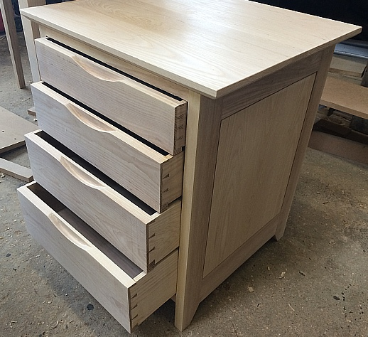 Olive ash drawer unit